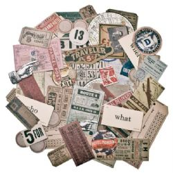 TH93115 Tim Holtz® Idea-ology™ - Ephemera Pack, Expedition